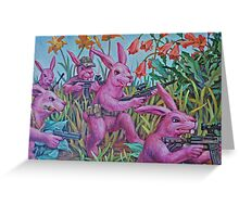 Bunny Recon Greeting Card