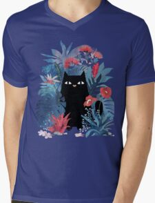 Popoki  Mens V-Neck T-Shirt
