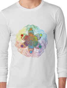 Six Color Red-Orange-Yellow-Green-Blue-Purple Long Sleeve T-Shirt