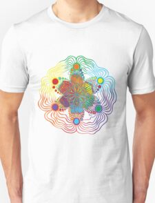 Six Color Red-Orange-Yellow-Green-Blue-Purple Unisex T-Shirt