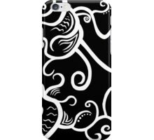 Line Art - Abstract Lines Dark iPhone Case/Skin