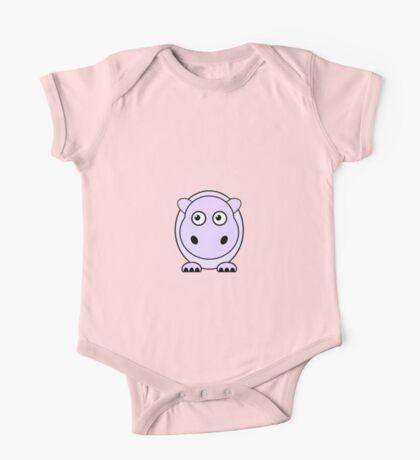 Little Cute Hippopotamus One Piece - Short Sleeve