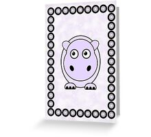Little Cute Hippopotamus Greeting Card