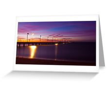 Frankston Pier - Sunset Greeting Card