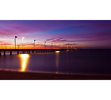 Frankston Pier - Sunset Photographic Print