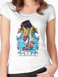 The Wind Is Blowing - Windwaker Fanart Women's Fitted Scoop T-Shirt