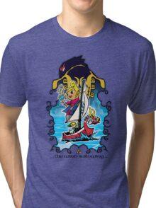 The Wind Is Blowing - Windwaker Fanart Tri-blend T-Shirt