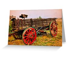 World Museum Of Mining - Wagon Of The Past Greeting Card