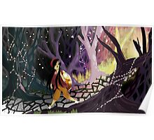 her beautiful and magical forest Poster