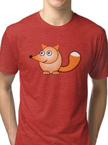 Little Cute Fox Tri-blend T-Shirt