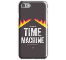 Cinema Obscura Series - Back to the future - Time Machine iPhone Case/Skin