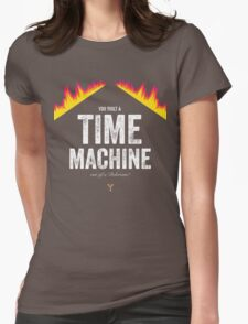 Cinema Obscura Series - Back to the future - Time Machine Womens Fitted T-Shirt
