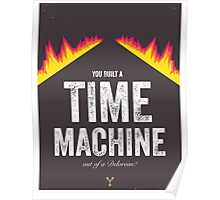 Cinema Obscura Series - Back to the future - Time Machine Poster