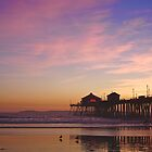 Huntington Beach Pier in Sunset by Svetlana Day