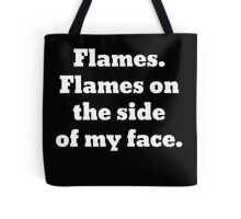 Flames on the Side of My Face Clue Tote Bag