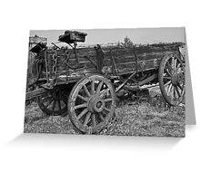 World Museum Of Mining - Old Time Black And White Wagon Greeting Card