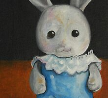 Anj used to carry this bunny in her pocket. by Sally Kitten