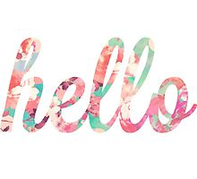 Floral Hello Typography by SailorMeg