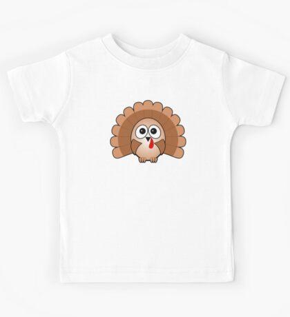 Little Cute Turkey Kids Tee