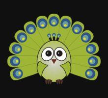 Little Cute Peacock Kids Tee