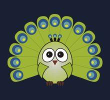 Little Cute Peacock Baby Tee