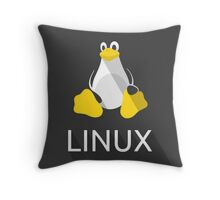 Tux the Penguin flatshaded Throw Pillow