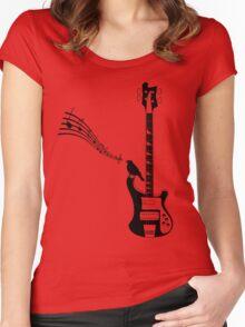 guitarist, bassist, bass guitar, Women's Fitted Scoop T-Shirt
