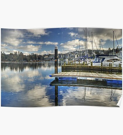 Bowness-on-Windermere..Marina Views Poster
