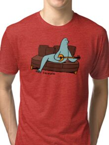 Seal it with a Banjo Song. Tri-blend T-Shirt