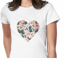 Don't Be a Dick Floral Heart Womens Fitted T-Shirt