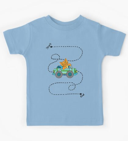 Life's a journey, baby, you gotta enjoy the ride. Kids Tee