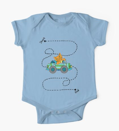 Life's a journey, baby, you gotta enjoy the ride. One Piece - Short Sleeve
