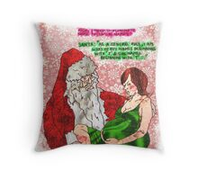Pregnancy: Naughty and Nice Names Throw Pillow