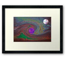 storm planet Framed Print
