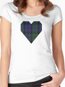 00382 Modern Baird Clan/Family Tartan  Women's Fitted Scoop T-Shirt