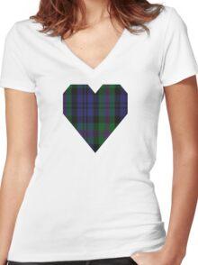 00382 Modern Baird Clan/Family Tartan  Women's Fitted V-Neck T-Shirt