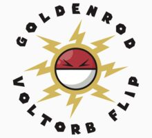 Goldenrod Voltorb Flip (in Black) Kids Tee