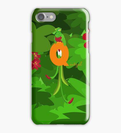 q for quetzal iPhone Case/Skin