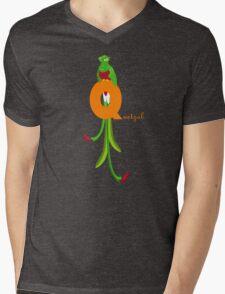 q for quetzal Mens V-Neck T-Shirt