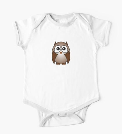Little Cute Owl One Piece - Short Sleeve