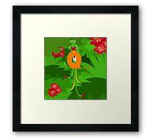 q for quetzal Framed Print