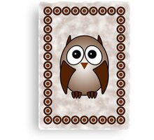 Little Cute Owl Canvas Print