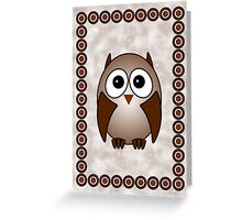 Little Cute Owl Greeting Card