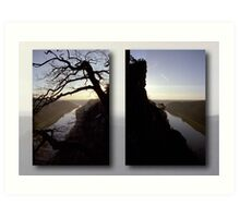 High above the Elbe river - diptych (Saxony Switzerland, Germany) Art Print