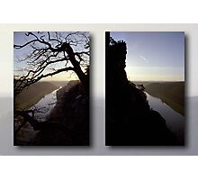 High above the Elbe river - diptych (Saxony Switzerland, Germany) Photographic Print