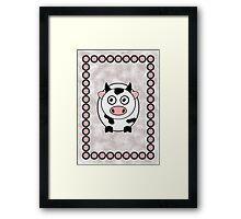 Little Cute Cow Framed Print