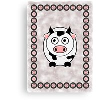 Little Cute Cow Canvas Print