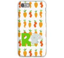r for rabbit iPhone Case/Skin