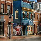 City - Alexandria, VA - King Street Blues by Mike  Savad