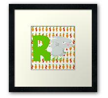 r for rabbit Framed Print